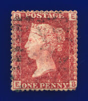1874 SG43 1d Red Plate 174 EB Clear Profile Rich Shade Clear Plate # G/U cgtf
