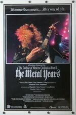 Decline of Western Civilization Part 2 The Metal Years - original movie poster