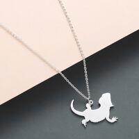 Animal Lizard Pendant Pet Reptile Bearded Dragon Necklace Collars Jewelry Gift