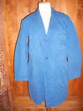 Ancienne blouse d'atelier bleue Au Molinel Sanfor