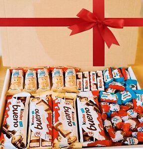 Personalised Chocolate Gift Box Hamper Kinder Bueno Cadbury Birthday Sweets