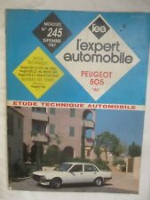 "LEA L'Expert Automobile Numéro 245 de 1987 Peugeot 505 ""86"""
