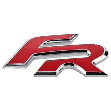 Seat FR Formula Racing Schriftzug Logo Emblem Zeichen Rot Chrom badge Leon Ibiza