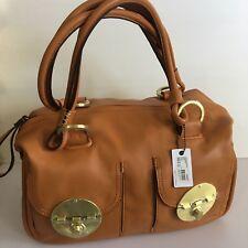 Mimco Leather LARGE TURNLOCK ZIPTOP Hand Bag BNWT Honey Glod RRP $450