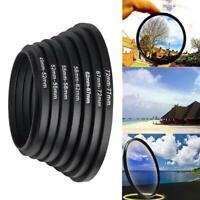 37-49 52-55 58-62 67-72 72-77 77-82mm Camera Lens Adapter Step Up Filter Ring