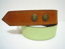 HUGO BOSS Cintura Donna Pelle Canvas Leather Woman Belt Signed Sz.S - M