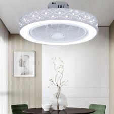 White Ceiling Fan Light Remote Control -Pineapple Bead Fan+Led Dimmable Lamp 64W