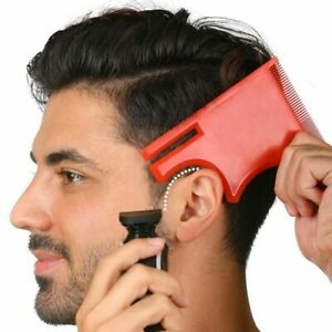 Men Beard Style Comb Mustache Shaping Template Barber Ruler Tools Accessories