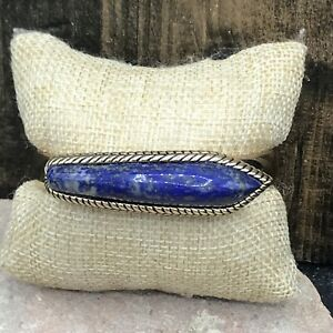 Barse Overland Cuff Bracelet-Lapis & Bronze- NWT