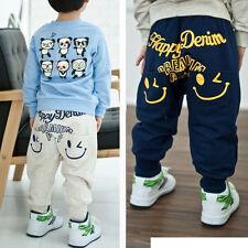 Kids Boys Girls Smiling Sport Casual Track Harem Joggers Pants Trousers Leggings