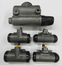 MB GPW Willys Ford WWII Jeep CJ2A Brake Master Cylinder & Wheel Cylinders Set