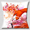 Flamingos Cushion Cover 16x16 inch 40cm Pink and Coral Artistic Modern Painting