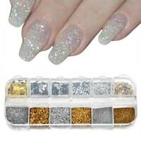12 Mix Color Set Nail Art Glitter Powder Sequins Dust For UV GEL Acrylic Tips