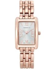 Charter Club Women's Square Face Rose Gold Tone Watch 22mm - New In Box