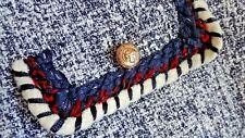 ZARA Woman Flecked Cardigan Jacket NAVY BLUE Blazer w/Trim piping XXL NEW