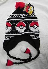 NWT Pokemon Pokeball Fair Isle Laplander Hat