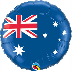 "AUSTRALIAN FLAG BALLOON 18"" AUSTRALIAN DAY AND ANZAC DAY QUALATEX FOIL BALLOON"