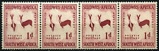 South West Africa 1954 SG#154w 1d Wmk Horns To Right MNH Coil Strip Of 4 #D25286
