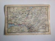 Switzerland, Brienz-Meiringen-Brunig, 1923 Vintage Map, Atlas Original