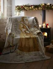 Noël Sherpa Couverture Polaire Supersoft Throw Twilight Santa 130 x 170CMS