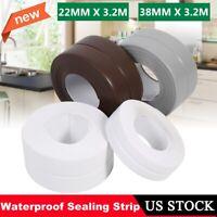 3.2M Waterproof Sealing Strip SelfAdhesive Kitchen Bath Wall Caulk Tape Bathroom