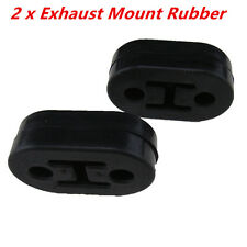 2Pcs Black Exhaust Mount Repair Hanger Bracket Heavy Duty Rubber Replacements