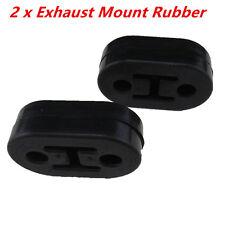2Pcs Black Exhaust Mount Repair Hanger Bracket Heavy Duty Rubber Replacements