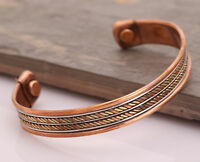 Copper Adjustable Bracelet  Cuff Wristlet Wrist Band Bangle  Luck - Men Women