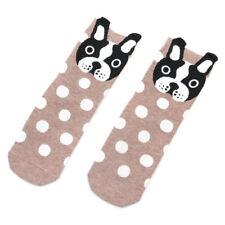 Women's Socks Funny Dog Small Ear Cartoon Animal Cotton Polka Dot Short Socks CA
