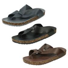 Sandalias de hombre negros sin marca