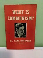 VTG 1936 What is Communism Party USA Greensboro North Carolina Book Earl Browder