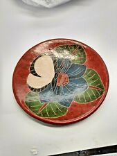 Art Pottery Plate by Duilio Jimenez Nicaragua Incised Pottery Signed