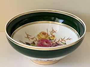 Spode Porcelain Impressive Green and Floral Serving Bowl