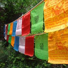 Tibetan Buddhist Prayer Flag Artificial Silk Colour Print 6 Meters 20 Flags