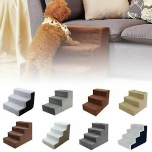 Pet Dog Comfort Ladder Ramp Stairs Dogs Cats Step Portable Bed Couch Foam Tools
