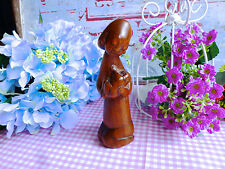 VINTAGE MOTHER HOLDING SON WOODEN SCULPTURE - MYSTERIOUS MEANING FIGURINE