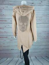 ♥ Italy Pullover Damen Feinstrick Pulli TOTENKOPF Skull HELL BLAU 38 40 42 S M