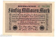 Allemagne GERMANY REICHSBANKNOTE 50 MILLION MARK 1923 P109 WEIMAR REPUBLIc