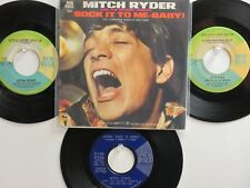 4  MITCH RYDER & THE DETROIT WHEELS HIT 45's+1PS[Sock it Too Me Baby] 60's!
