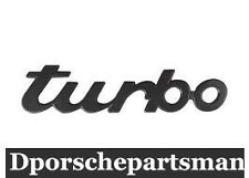 "Porsche 911 ('88-'94) Emblem ""TURBO"" For Decklid (Black)  GENUINE    NEW #N"