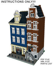 Lego Custom Modular Building Canal Street Houses INSTRUCTIONS ONLY!! 10182 10185