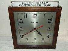 Antique 1920's Art Deco BULOVA Watch Co. Advertising Clock - Spin Start Movement