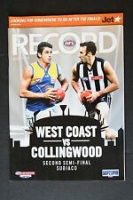 2007 West Coast vs Collingwood 2nd semi- final football record footy