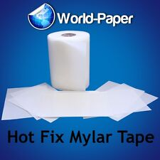 UNCUT- Hotfix Iron on Transfer Tape Mylar Film for Rhinestones 20 feet x 9.5""