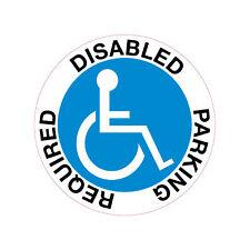 Disabled Parking Required .Car / Van Window Sticker x 1 .