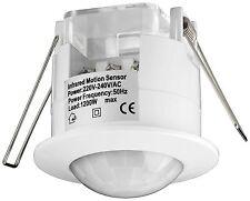 2x Sensore Movimentor 360° 300 1200 Watt Soffitto Incasso Infrarossi Ad Bianco