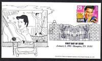 Elvis Presley #2721 Unknown Cachet Memphis Music Cancel Unaddressed  (Lot 272)