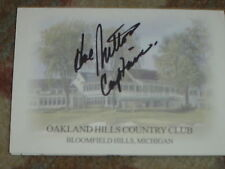 Hal Sutton Captain Ryder Cup Signed Oakland Hills Country Club Scorecard