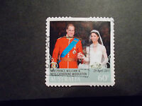 2011 Australia Self Adhesive Post Stamps~Royal Wedding~Fine Used, UK Seller
