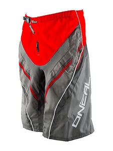 O'Neal Element FR MTB Men's Cycling Short Red Grey Size L #0192S-634